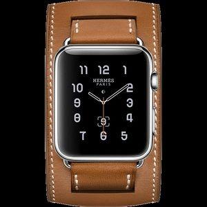 Hermès Apple Watch Cuff Band 42 44 Fauve Barenia